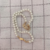 Wholesale pearl necklaces for sale - Group buy High Quality Rhinestone Satellite Pendant Necklace Women Orbit Pearl Chain Necklace Fashion Jewelry for Gift Party