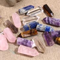 cristal balançado venda por atacado-Seis Prism Cura Cristais Coluna Único Cúspide Energia Pedra Lustrosa Quartz Rock Eliminar Magnético Agradável Procurando Venda Quente 11sj7D1