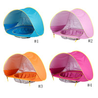 Wholesale outdoors toys resale online - Baby Tent Kids Outdoors Beach Tents Sunshade Ball Pool Toy House Ultraviolet Proof Castle Shelters Foldable Pool Tent GGA2351