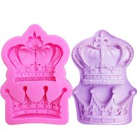 Wholesale silicone molds wedding for sale - Group buy M0761 Royal crown silicone fandont mold Silica gel moulds crowns Chocolate molds candy mould wedding cake decorating tools