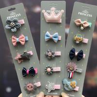 ingrosso accessori delle mani delle ragazze dei fiori-Fiori di stoffa fatti a mano in raso con perle Plum girl hairpin Flower boutique accessori per capelli per bambini Accessori per l'abbigliamento natalizio