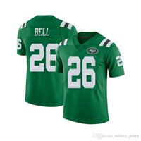 74c83a8e6bd 26 Le'Veon Bell Men's New Top quality York Jersey Jets Color Rush Football jerseys  stitched Green jerseys Cheap Sale