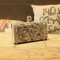 party umschlag geldbörse großhandel-Frauen Perlen Diamant Kristall Elegante Umschlag Kupplung Geldbörse Abend Handtasche Tasche für Tanz Hochzeit Prom Braut