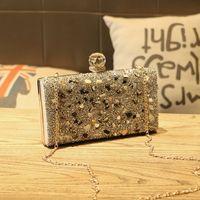 elmas çanta debriyaj kristali toptan satış-Kadın İnciler Elmas Kristal Zarif Zarf Debriyaj Çanta Akşam Çanta Çanta Dans Düğün Parti Balo Gelin için