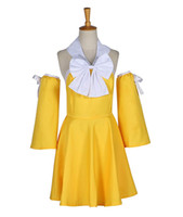Wholesale girl dresses games for sale - Group buy Fairy Tail Levy Mcgarden Yellow Girls Summer Party Dress Cosplay Costume