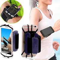 Wholesale arm band phone holder for sale - Group buy Non slip Sport Running Jogging Phone Bag Rotating Adjustable Band Phone Holder Bag Gym Mobile Arm Band For