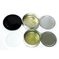 latas de metal tapas al por mayor-Latas de estaño Pre Cubierta tapa de cierre estanco para la hierba de flores prensadas en seco Top empuje vacío 3.5G metal inferior para sellar las latas de estaño
