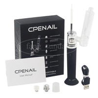Wholesale electric e pen resale online - Authentic CPENAIL Vape Pen Starter Kit mAh Dab Rig GR2 Pure Titanium Portable Wax Vaporizer Ceramic Quartz Electric H E Nail Glass bongs