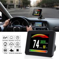 Wholesale diagnostic computer cars resale online - New HUD Display Speed Meter Auto Diagnostic Tool P16 OBD2 Car Engine RPM Gauge OBD2 On Board Computer For Car