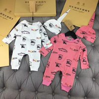 Wholesale free set clothes for sale - Group buy 2pcs Set Baby Romper Letters horse printing Newborn jumpsuits toddlers Coverall Romper kids brand clothing