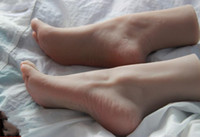 23CM Real female sexy doll Foot mannequin shoe Blood vesse Silicone Photography Silk Stockings Jewelry Model soft Silica gel 1PC C751