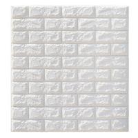 hauswandplakate großhandel-Abstand 6mm Pe Foam 3d Tapete DIY Wandaufkleber Wand Dekor Geprägte Ziegelstein Tapete Zimmer Haus 70X77 Poster