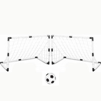 Wholesale children gates for sale - Group buy 2 Sets DIY Children Sports Soccer Goals with Soccer Ball and Pump Practice Scrimmage Game Football Gate DIY White Gift For Kids