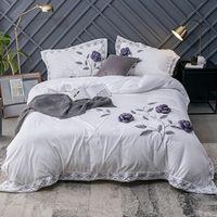 Wholesale cotton velvet duvet cover for sale - Group buy Luxury Velvet Flannel Fragrant Flowers Bedding set Winter Warm Fleece Applique Duvet Cover Bed Sheet Pillowcases Queen size