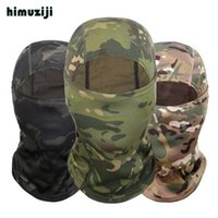 Wholesale army full face mask online - Multicam CP Camouflage Balaclava Full Face Mask Wargame Cycling Hunting Army Bike Helmet Liner Tactical Cap