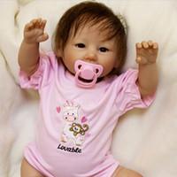 cuerpos de muñecas de plástico al por mayor-Lindo Bebe Reborn 20inch Silicona Reborn Baby Doll 48 cm Muñeca Playmate Regalo Para Niñas Bebé Vivo Regalo de Cumpleaños Para Ramos de Muñecas