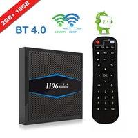 4k ultra hd tv großhandel-H96 Mini 4k Ultra HD Fernsehkasten 2G 16G Android 7.1 gesetzter Spitzenkasten Amlogic S905w Unterstützung 2.4G / 5G verdoppeln Wifi H265 4K
