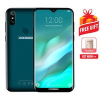 мобильный телефон mtk6572 оптовых-Presale DOOGEE Y8 3 ГБ + 16 ГБДвойные задние камеры Face IDDTouch Отпечаток пальца 6,1-дюймовый экран с каплей воды Android 9.0 MTK6739 Quad Core до 1,5 ГГц