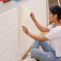material removível venda por atacado-77 * 70 centímetros 3D papel de parede adesivos PE Foam DIY adesivos de parede decoração Home Decor Embossed Tijolo Pedra Sala Quarto