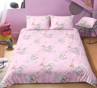 Wholesale bedding set 3d horse print for sale - Group buy 3D Cartoon Unicorn Bedding Sets Flying Horse Pillow Case Quilt Cover Soft Duvet Covers For Children
