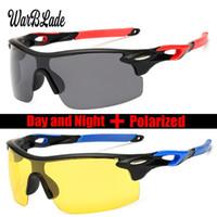 quadratische schutzbrille großhandel-WarBLade 2018 New Men Driving Polarized Sonnenbrille Square Half Rimless Gradient Sonnenbrille HD Lens Eyewears Goggles UV400