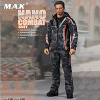 2728afa8c2 1 6 Escala Hombre Iron Man Tony Ropa Accesorio NANO COMBAT TRAJE Zapatos Modelo  para 12 pulgadas Figura de acción Cuerpo