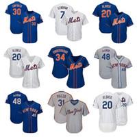 ingrosso donne di jersey-Maglia da donna New York Custom New York Mets da uomo Marcus Stroman Pete Alonso Jacob deGrom Jeff McNeil Maglia da baseball Michael Conforto
