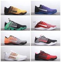 ingrosso arancione scarpe kb-Scarpe da basket Kobe 11 Venom 5 Mens di alta qualità Scarpe da corsa gialle viola arancione KB 11 Scarpe da ginnastica per attività sportive da jogging all'aperto 40-45