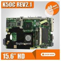Wholesale ddr2 for laptop for sale - Group buy Original For ASUS K40C K50C Laptop Motherboard quot HD REV USB2 DDR2 VRAM SiS Mainboard fully Tested