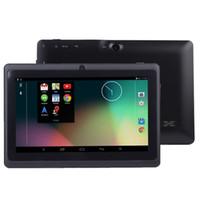 настольные лампы оптовых-Q8 7-дюймовый планшетный ПК A33 Quad Core Allwinner Android 4.4 KitKat Емкостная 1,5 ГГц 512 МБ ОЗУ 4 ГБ ROM WIFI Двойная камера Фонарик Q88