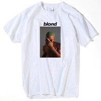 Wholesale ocean animals resale online - Fashion Frank Ocean Blonde T Shirt Tee Shirt for Men Printed pac tupac Short Sleeve Funny Tee Shirts Top Tee summer tops for men s
