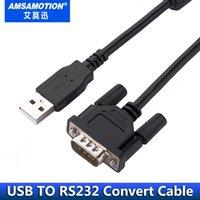 ingrosso cablaggio del cavo rs232-Amsamotion Convertitore USB a RS232 Convertitore USB Porta seriale RS232 Cavo industriale con garanzia di qualità Adattatore USB-CIF31 USB-RS232