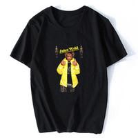 camisetas paz al por mayor-Jugo WRLD Hombres camiseta resto en paz Leyenda de Calle Harajuku camiseta punky de Lil pío Lucid Dreams T-Camisa de Hip Hop Tamaño XS-3XL