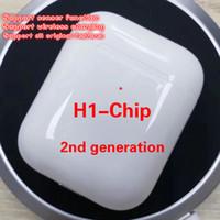 ingrosso cuffia originale della mela-Con la funzione sensore App chip H1 di seconda generazione Finestra pop-up di animazione Auricolare Bluetooth Connect wireless Cuffie originali.