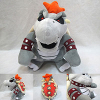 Wholesale bowser plush toys for sale - Group buy Super Mario figure Plush Toys Bone fire dragon gray bowser Koopa Stuffed Animals soft toy Children s gift toy DHL