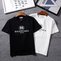 üst stil gömlekler toptan satış-Moda-Klasik T-Shirt kısa Kollu O-Boyun BB MODU spor T-Shirt Kanye West Mektuplar Baskılı Sportwear hip-hop sokak stili üst tees gömlek.