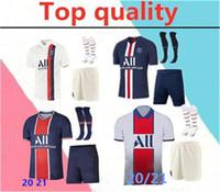 Wholesale maillot foot short resale online - 2020 Paris MBAPPE adult soccer Jerseys full kits mbappe VERRATTI CAVANI MAILLOT DE FOOT adult survetement soccer jersey kits socks