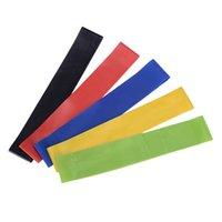 natürliches latex-fitness-band großhandel-New Styles Widerstandsschlaufenbänder Übungsbänder für Fitness Stretching Krafttraining Naturlatexbänder Pilates Workout Flexbänder M458A