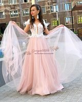 Wholesale evening dresses for little girls resale online - 2019 pink evening Dresses for sweet Girl amazing white Feather lace appliques tulle floor length Formal prom Dresses cheap Party Prom Wear