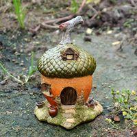 Wholesale miniature fairy garden houses resale online - resin acorn house statuette home decor miniatures fairy garden Ornament accessories Figurines for Home Decor Crafts T200703