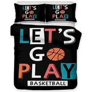 Wholesale cool queen beds for sale - Group buy 3D Basketball Bedding Set Sports Theme Basketball Printing Duvet Cover Cool Pillowcase for Boys Men Creative Gift