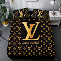 ingrosso coperta gialla bianca-Imposta Marca alfabeto stampato Bedding Set Famiglia Camera Lenzuola o un'immagine Regina Bedding SetComforter Bedding