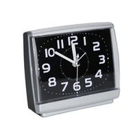 relógio mãos envio gratuito venda por atacado-Plástico Moderno Quadrado Despertador Quarto Desktop Cama Acordar Relógios ao lado do estudante Silencioso Varrição Pequena mesa Relógio