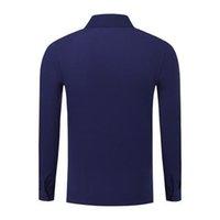 мужские лиловые рубашки поло оптовых-фиолетовый поло равномерное SD-cf-98 2019 летняя мода мужская и женская с длинным рукавом хлопок футболка