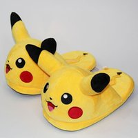 Wholesale cute anime slippers online - Unisex Anime Cartoon Pikachu Snorlax Eevee Gengar Dolls Slipper Home Cute Warm Slippers Shoes Indoor Bedroom Slides Warm Plush