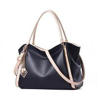 designer branded handbags toptan satış-Marka Yeni Omuz Çantaları Deri Lüks Çanta Cüzdan Kadınlar Için Yüksek Kalite Çanta Tasarımcısı Tote Messenger Çanta Çapraz Vücut 9008