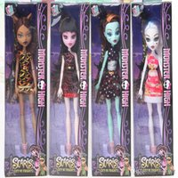 Wholesale rubber dolls child resale online - New Style Monster Fun High Dolls action figures Monster Draculaura Hight Moveable Joint Children Best Gift Fashion Dolls for kids toys666