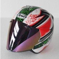 kask büyüklüğü s toptan satış-2019 En sıcak motosiklet kask yarım kask açık yüz kask casque motocross BOYUT: S M L XL XXL ,, Capacete