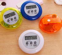 mutfak zamanlayıcı geri sayımı toptan satış-Yuvarlak Elektronik Geri Sayım Zamanlayıcı Alarm Dijital Masaüstü Zamanlayıcı Ev Mutfak Alet Pişirme Araçları Calculagraph Zaman Ölçer GGA2645