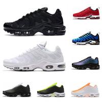 2020 tn plus SE men running shoes triple black Hyper Blue White Crimson University Red mens trainer fashion sports sneaker runners